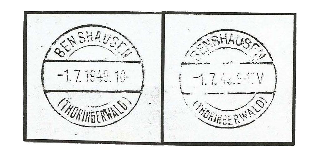 Abb. 2: Michel-Katalogpreise für die Etzdorfer Gebührenzettel von 1992